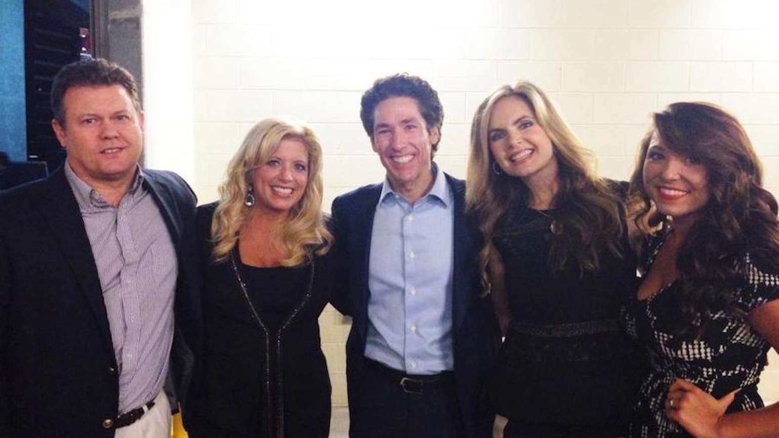 Michelle with Joel and Victoria Osteen.