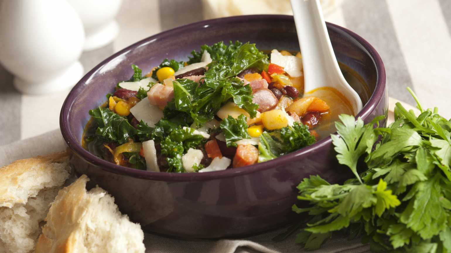 Hearty, healthy bean soup