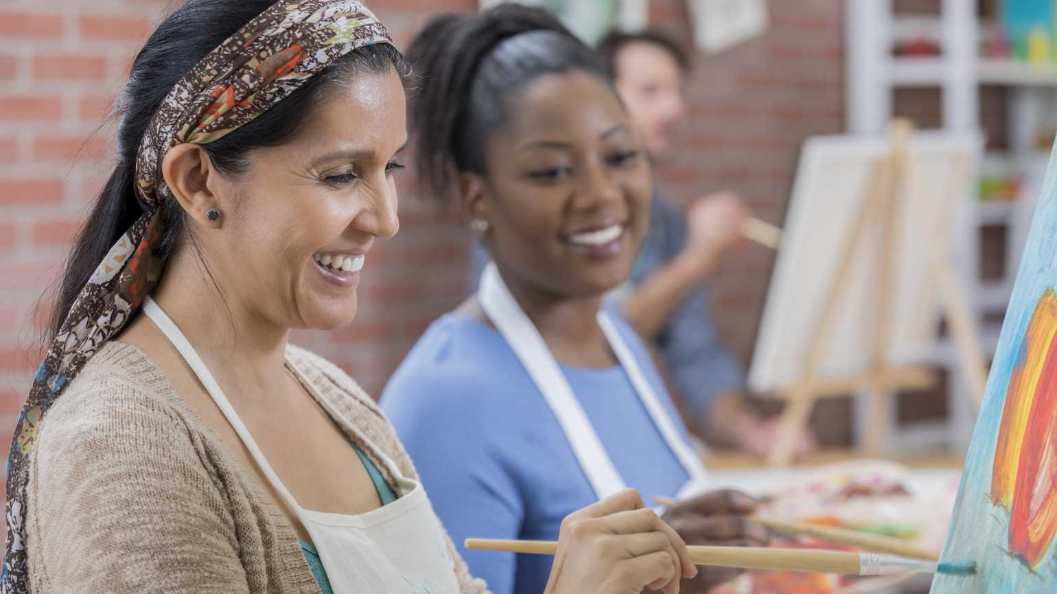 Painting can ease stress