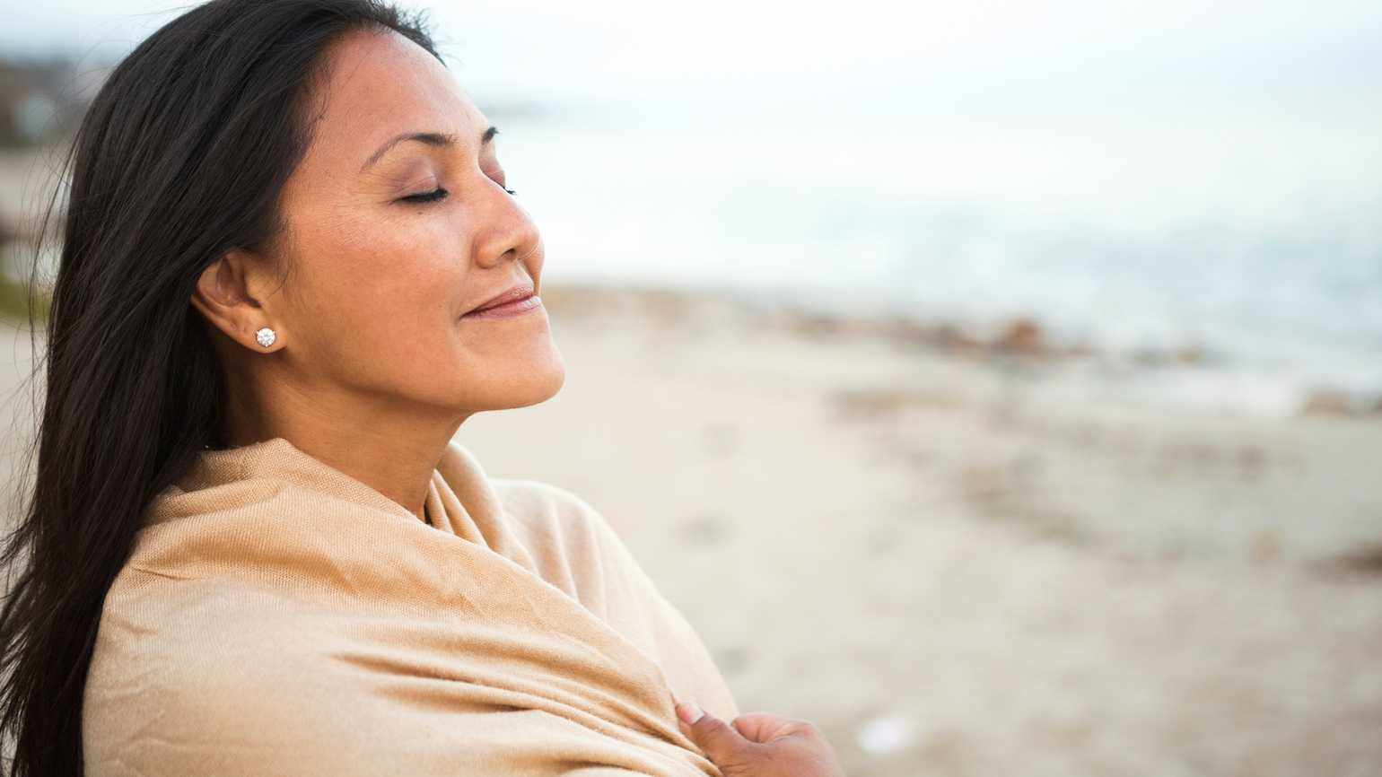 Woman listening for God's voice