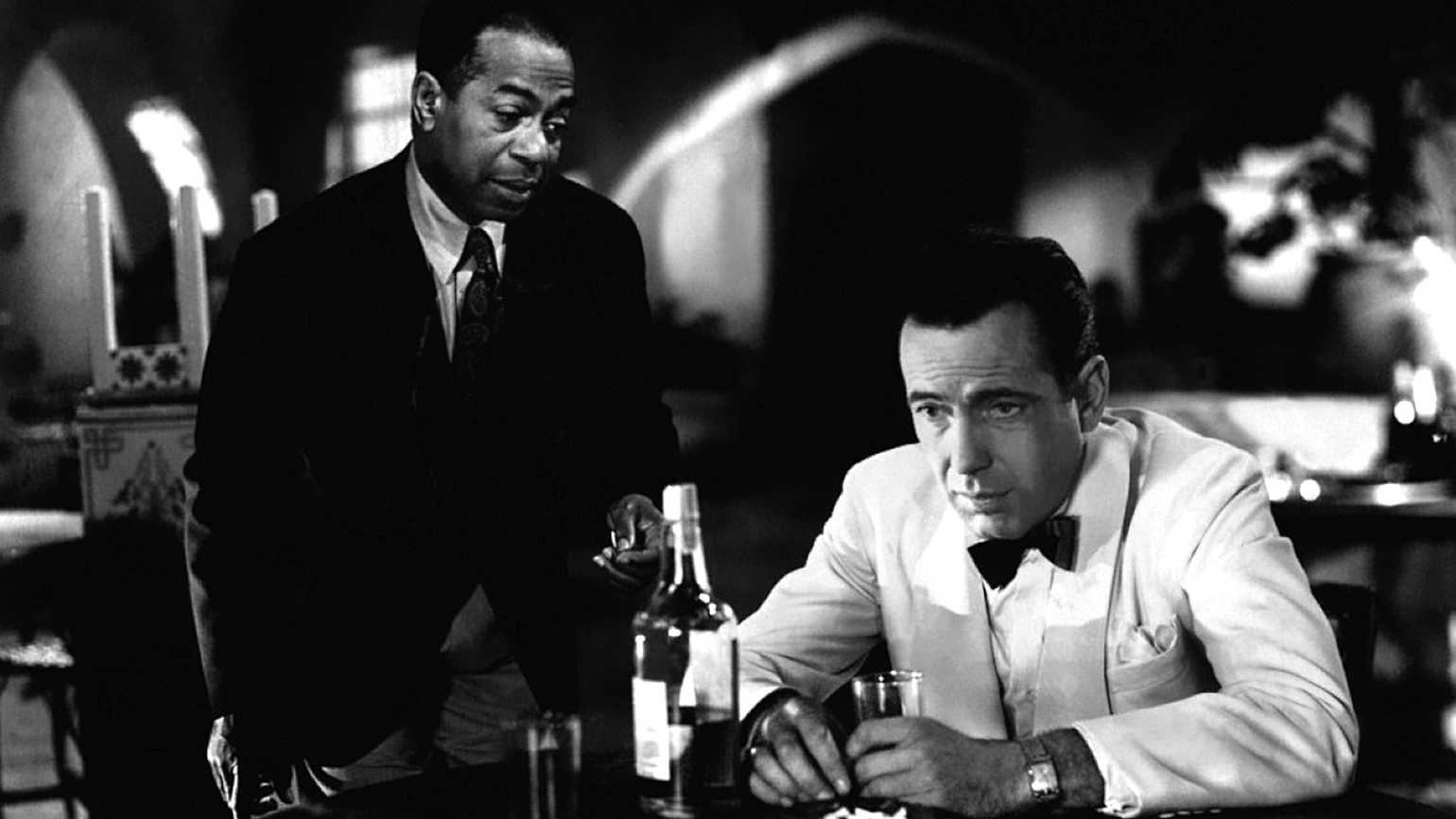 "Humphrey Bogart and Dooley Wilson in a scene from ""Casablanca"""