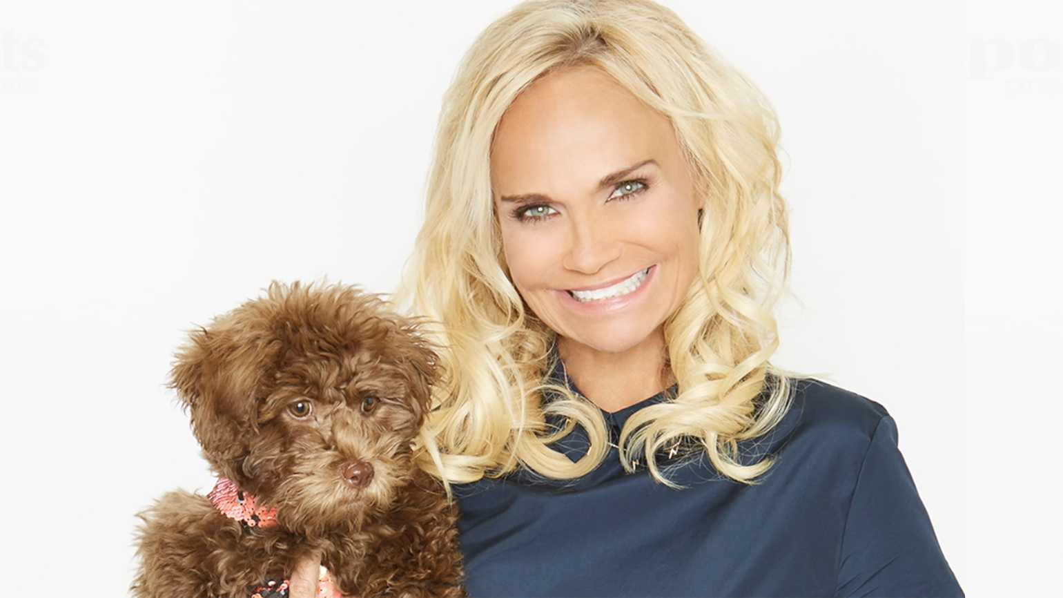 Kristin with her new dog, Thunder, named in honor of her favorite NBA team, the Oklahoma City Thunder