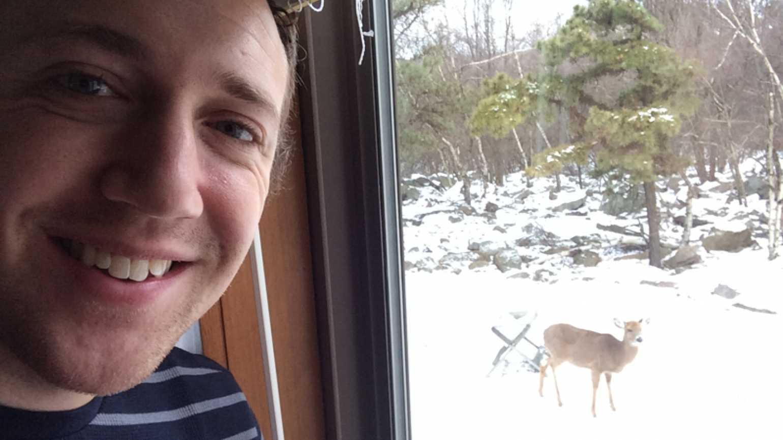 Mysterious Ways blogger Adam Hunter and the deer he saw New Year's Day