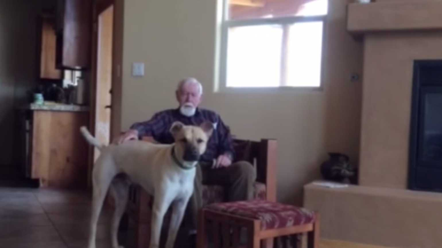 A man with Alzheimer's and the family dog