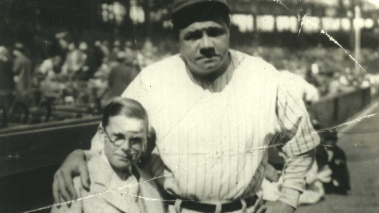 Babe Ruth and Johnny Sylvester in 1928