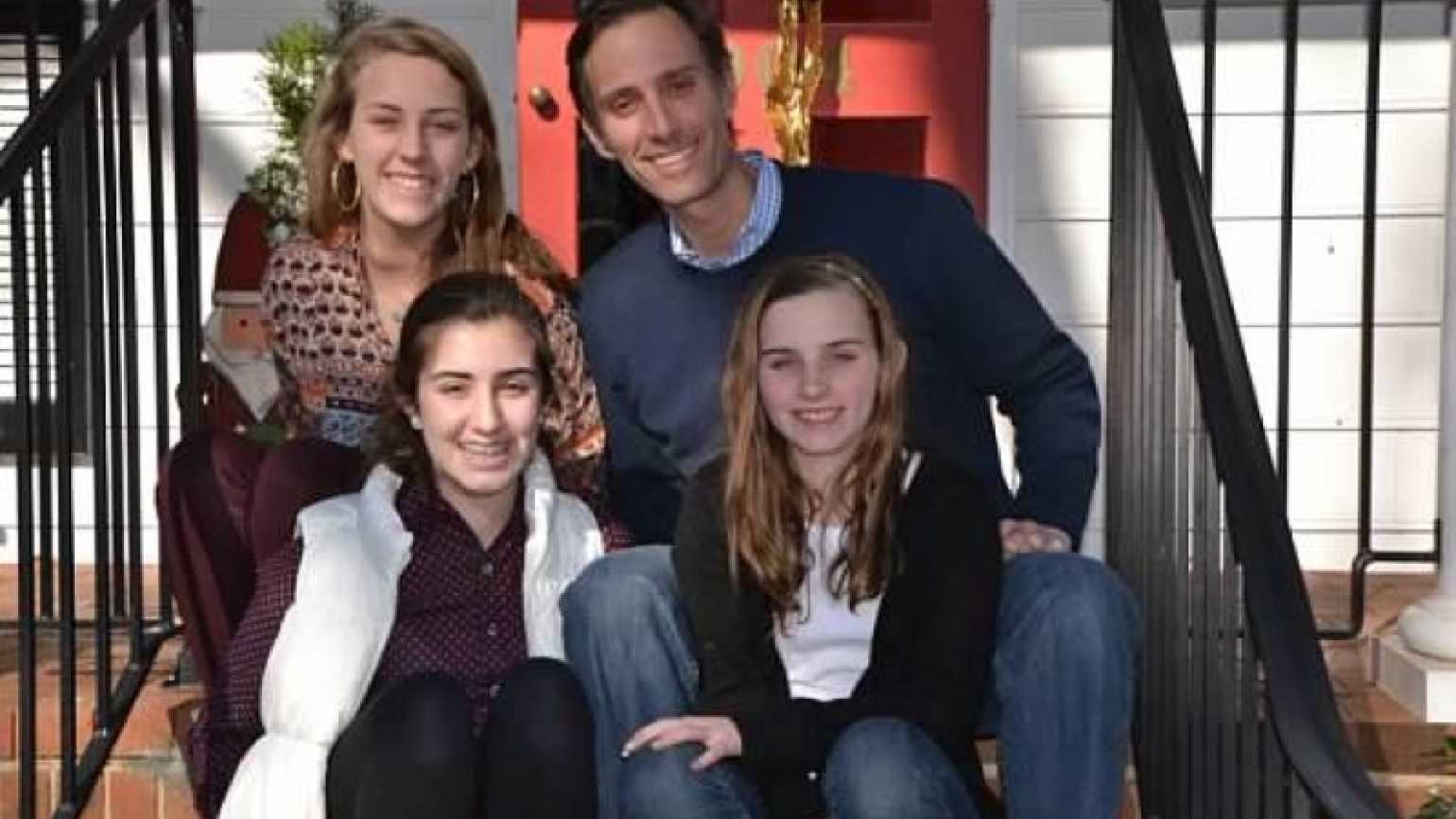 Father and author Bruce Ham with his family