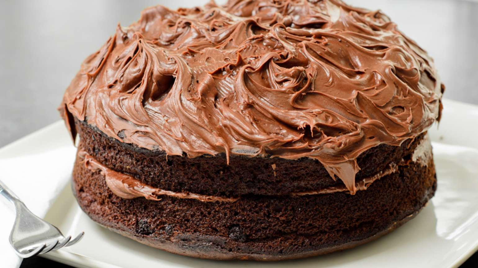 A delicious chocolate cake