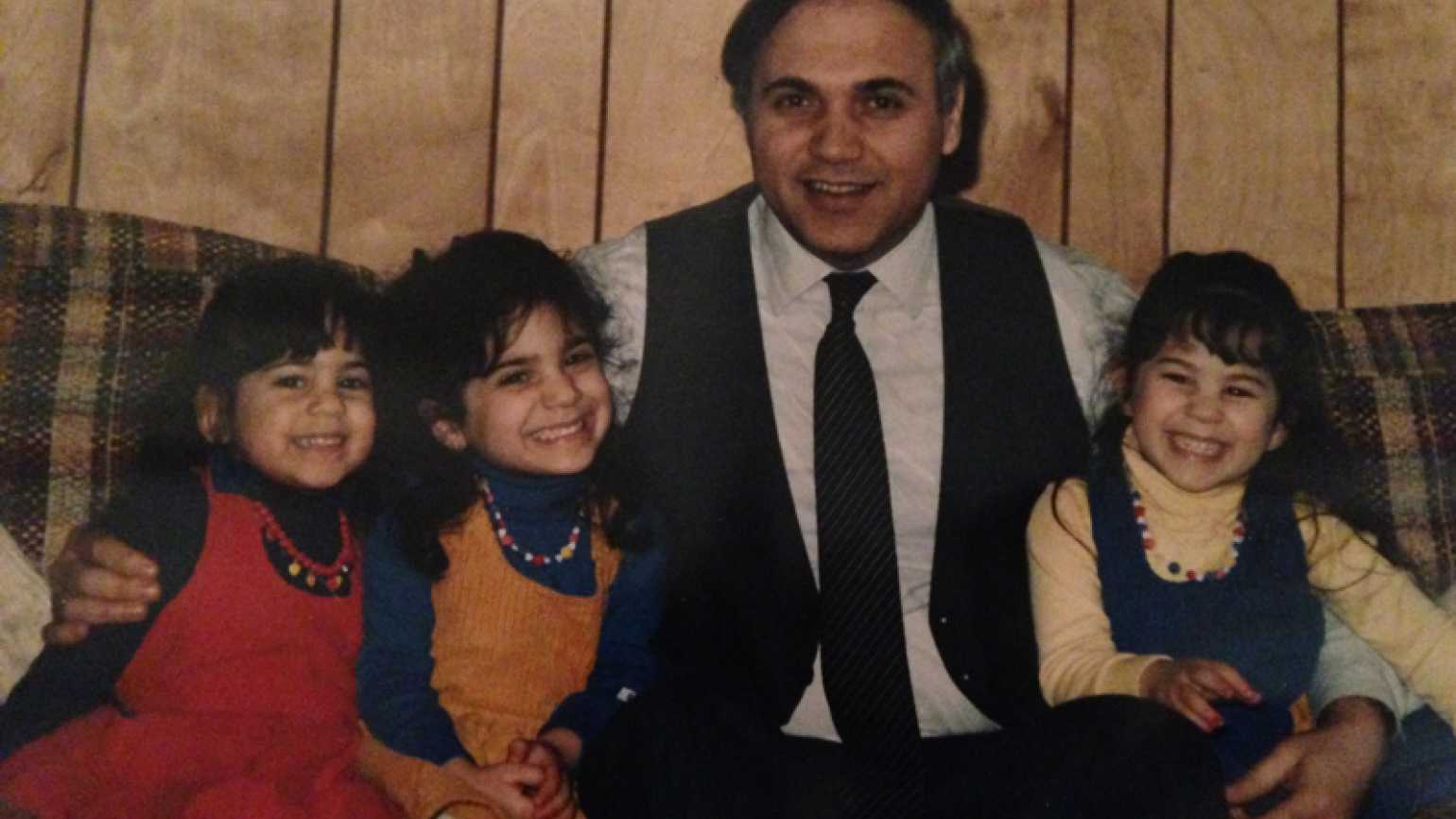 Mysterious Ways blogger Diana Aydin as a child with her father and sisters