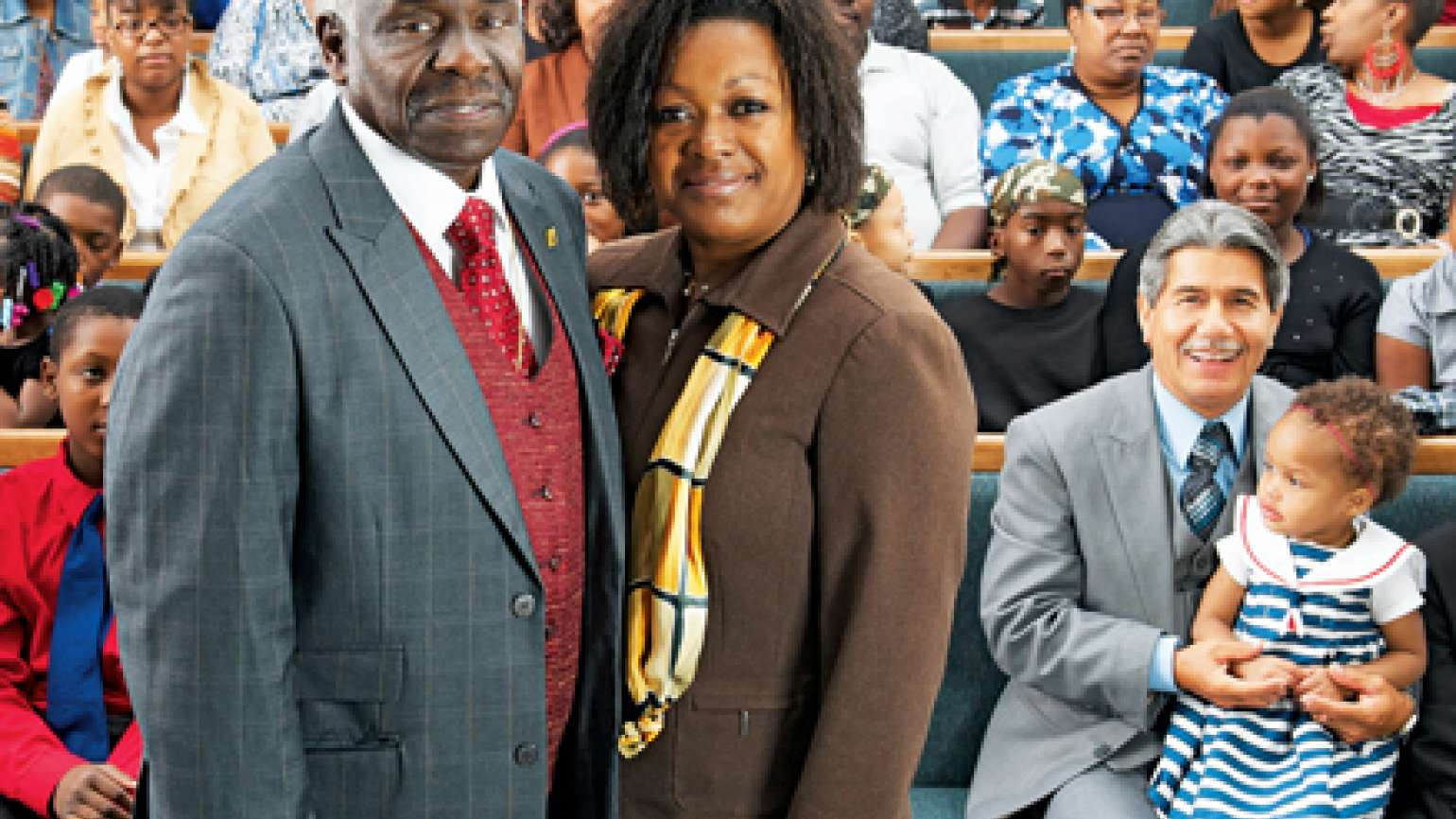 "Donna Martin and her husband, ""Pastor"""