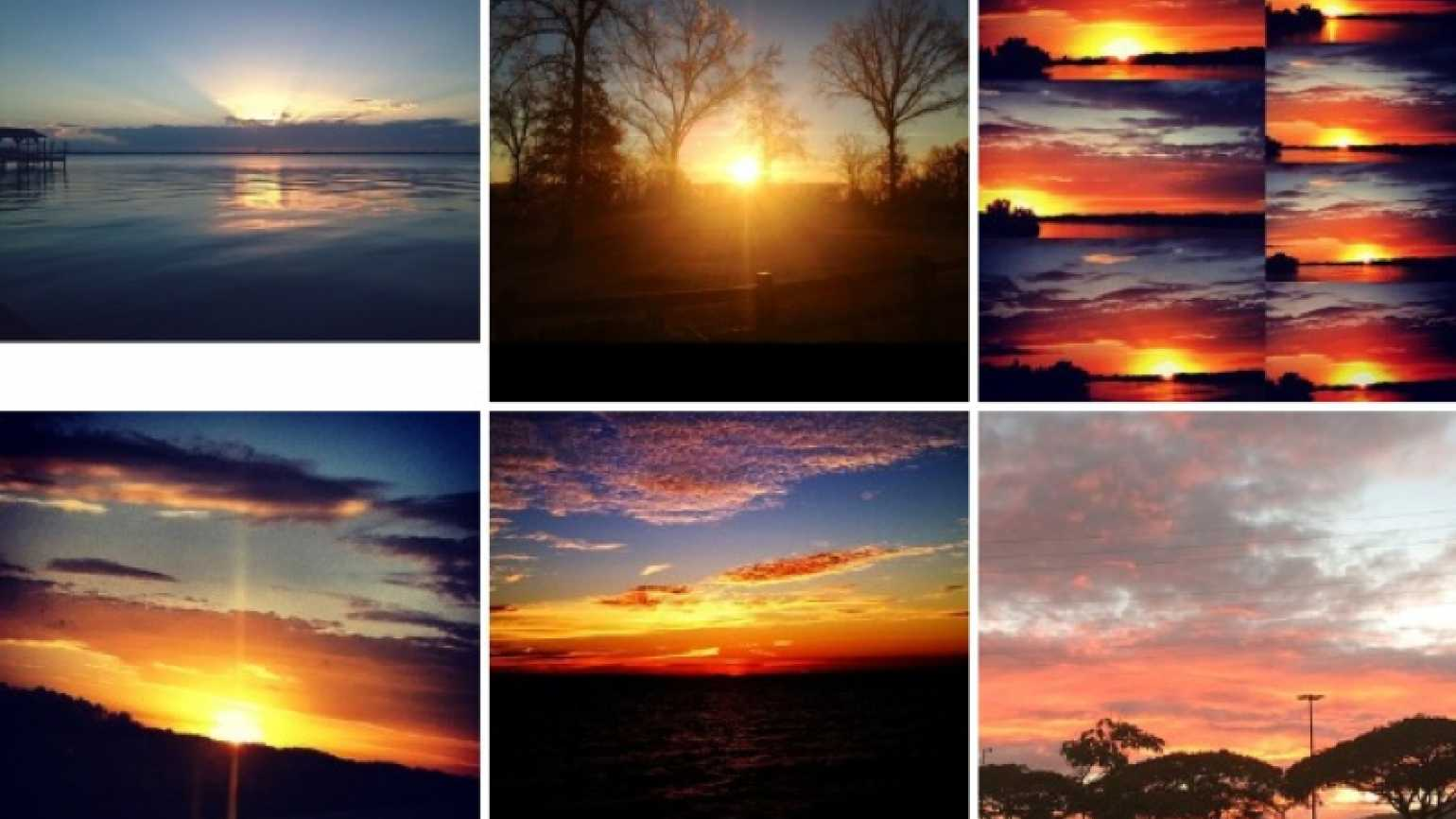 Pictures of beautiful sunsets found on Instagram under #godscanvas