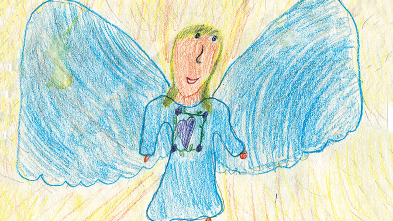One of Abby's angel drawings