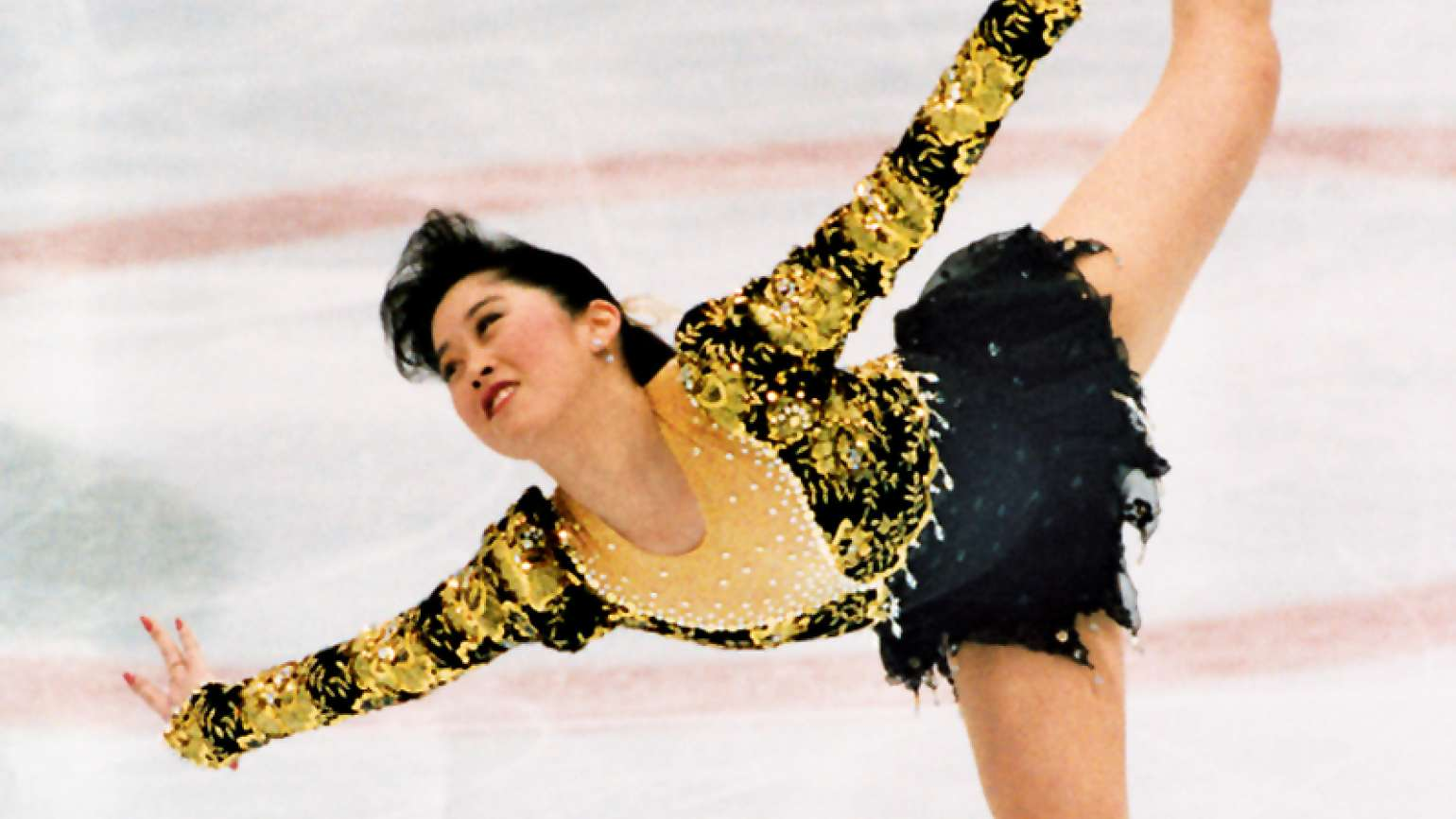Kristi Yamaguchi in her gold-medal performance at the Olympics