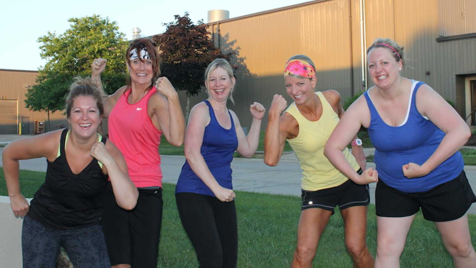 Shawnelle (second from left) with her running buddies