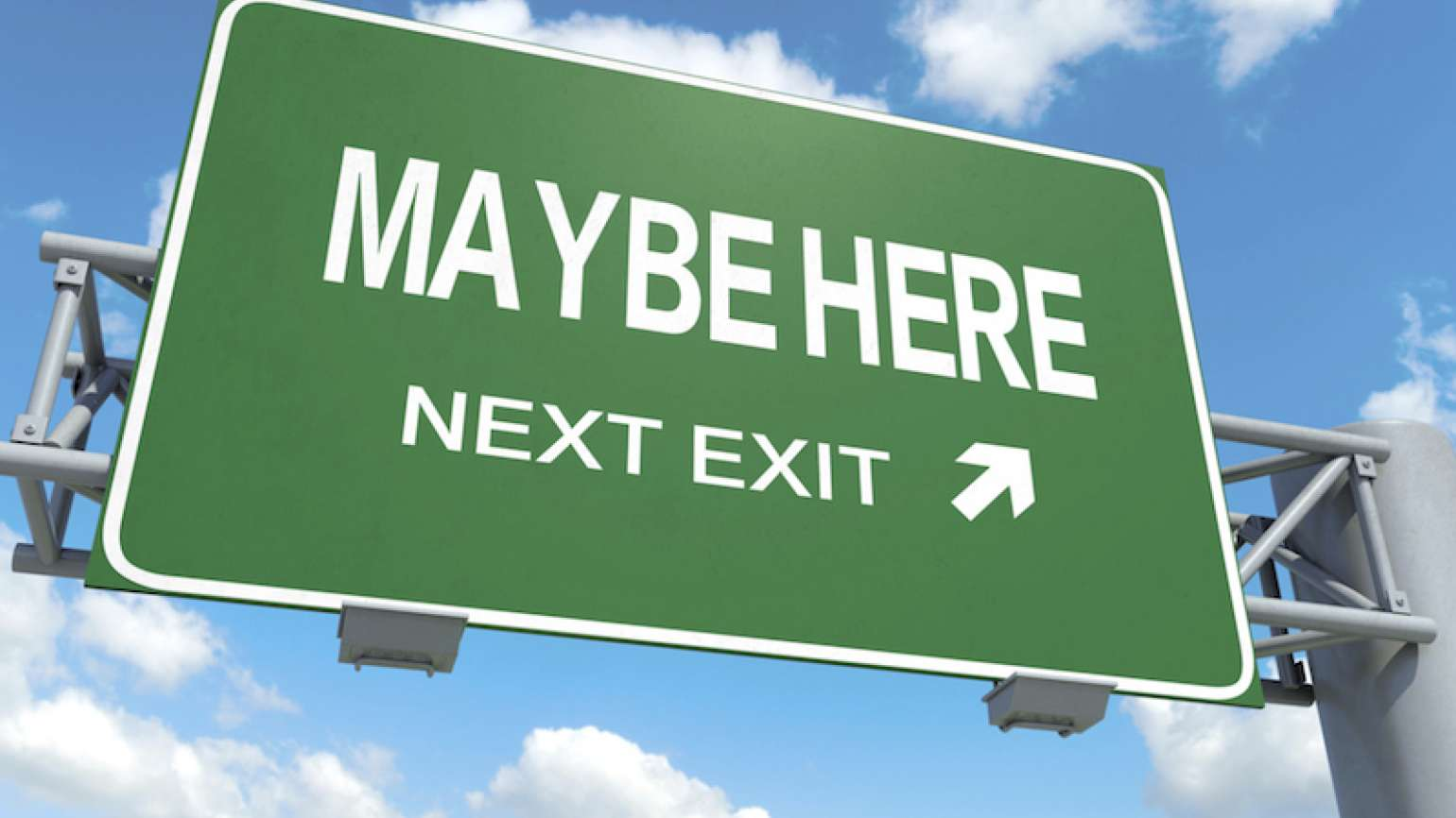 Highway sign Wrong Turn? Trust God Positioning System Guideposts