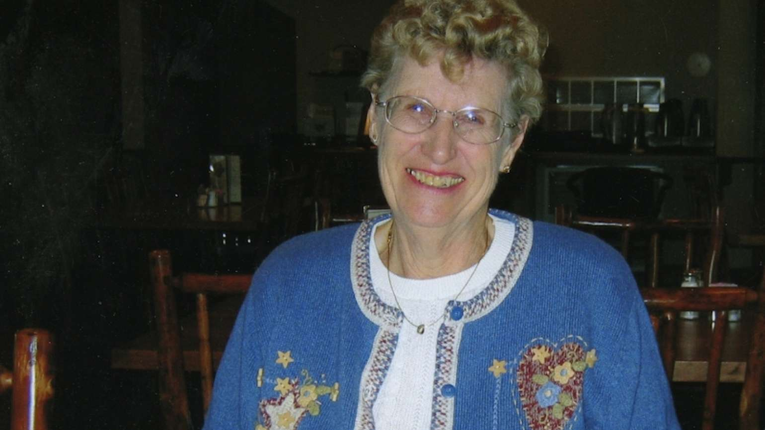 Valeria Olson, who was helped by a shopping mall angel
