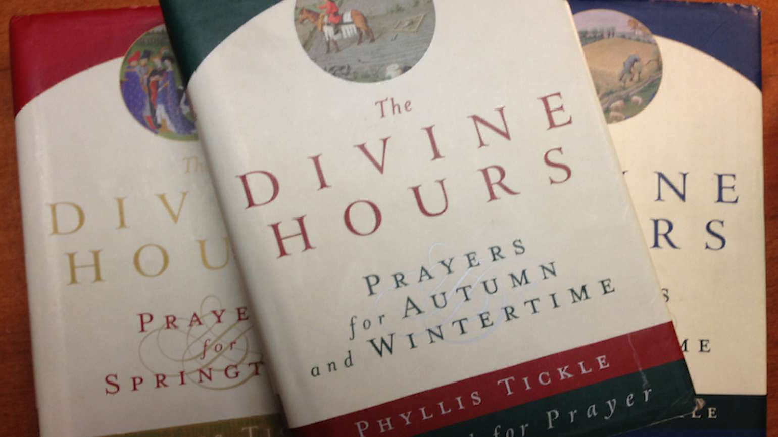 Phyllis Tickle's The Divine Hours offers prayer throughout the day.