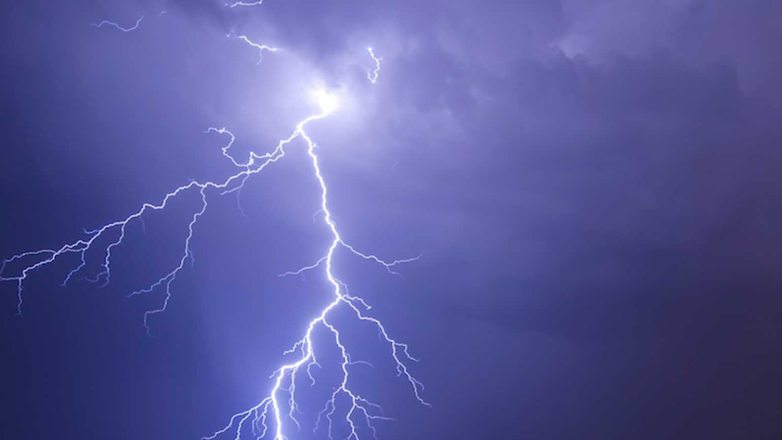Photo of stormy night by Sytilin for Thinkstock