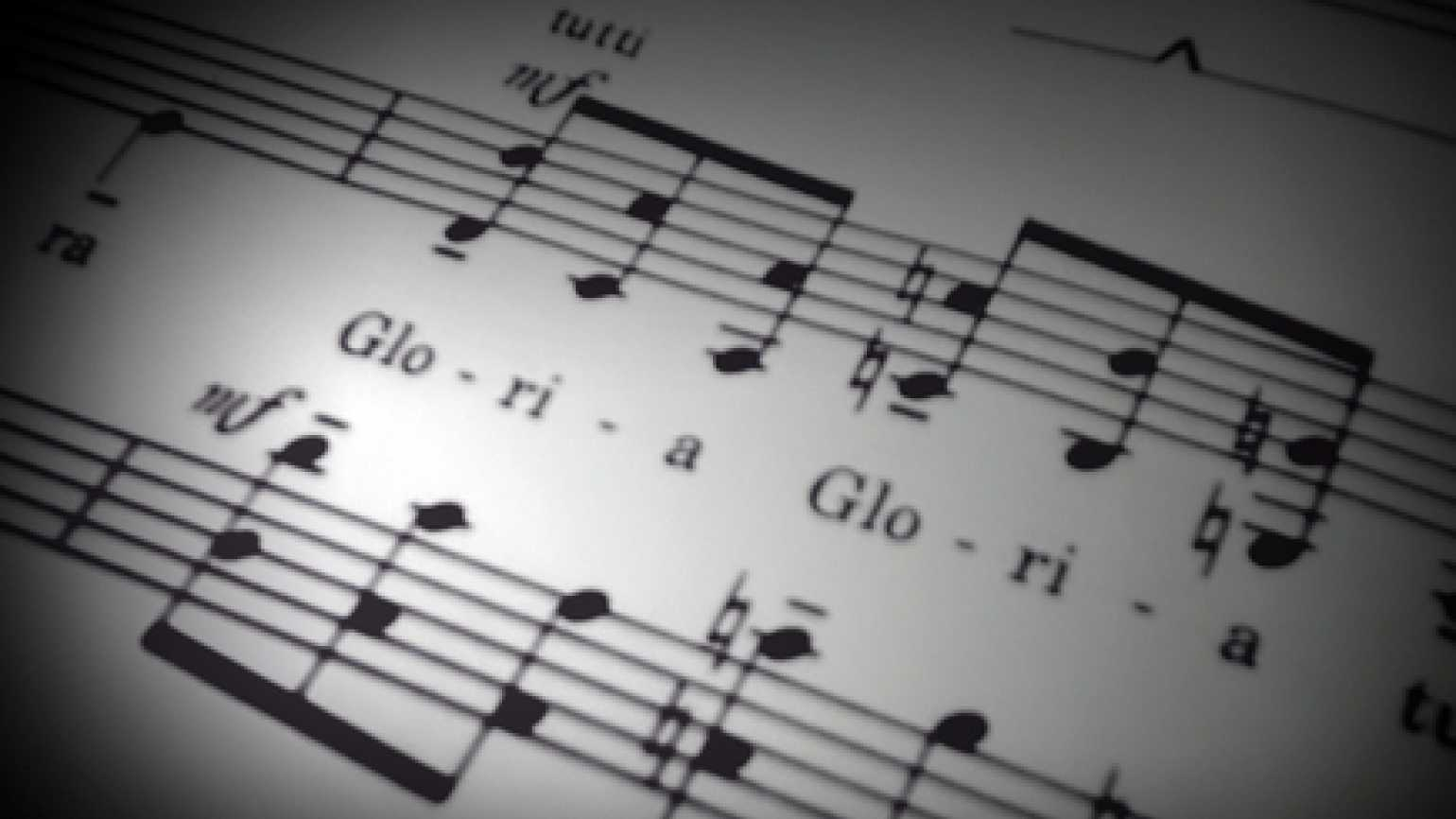 musical notes from a hymn