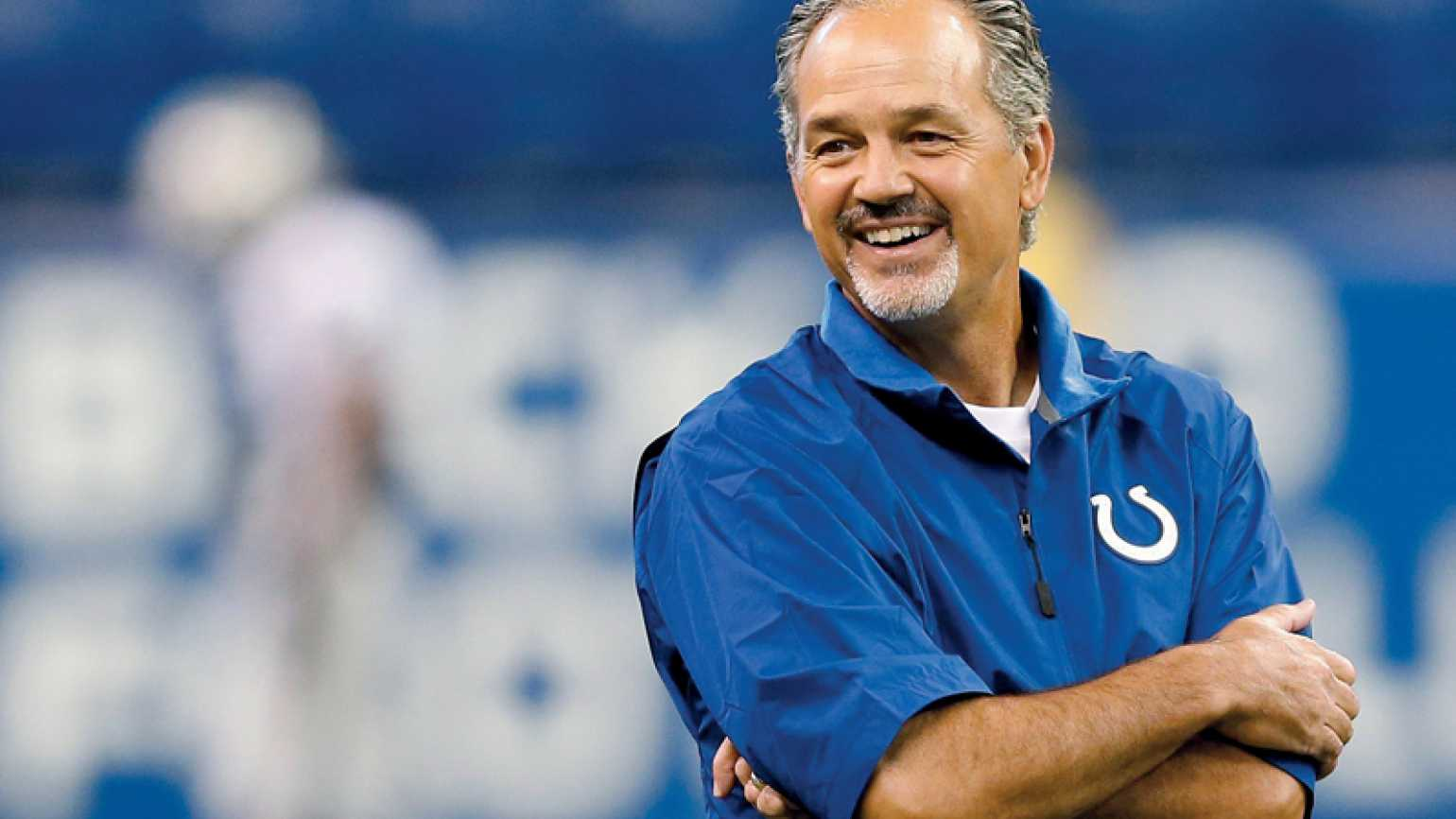 Coach Pagano returns to the field after a victorious battle with cancer.