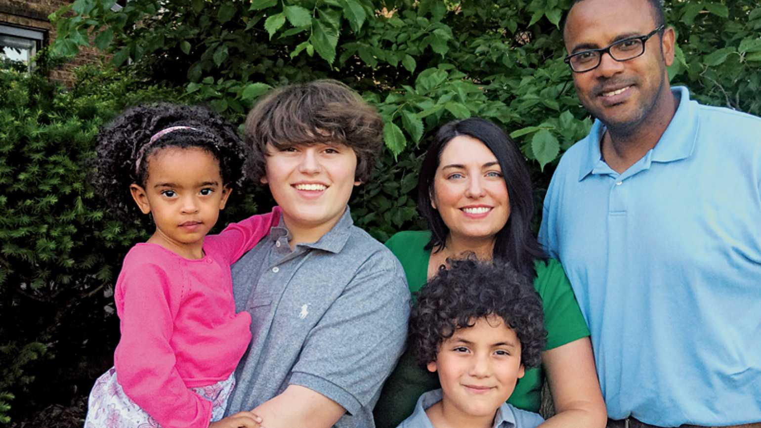 Molly Brown Pennington and her family, Dari, Dash, Phineas and Val (l-r)