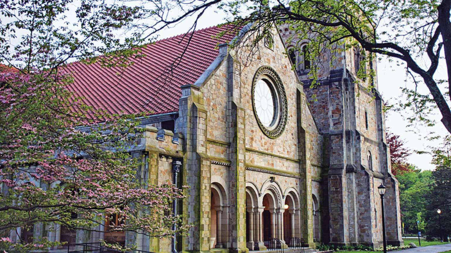 The campus chapel where Stacey found solace