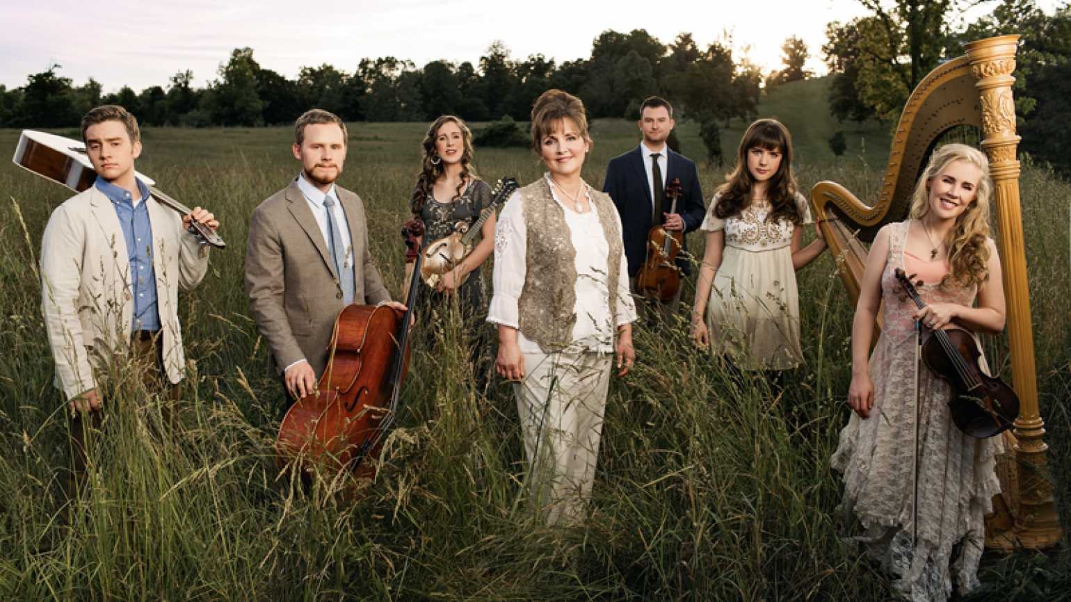 Robin Donica Wolaver with her family, the members of the Annie Moses Band