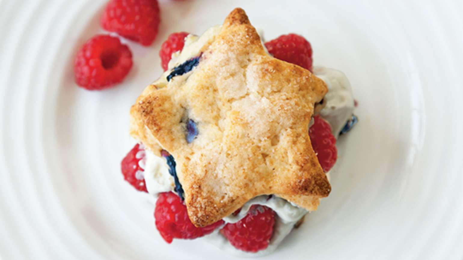 Star-Shaped Blueberry Shortcakes