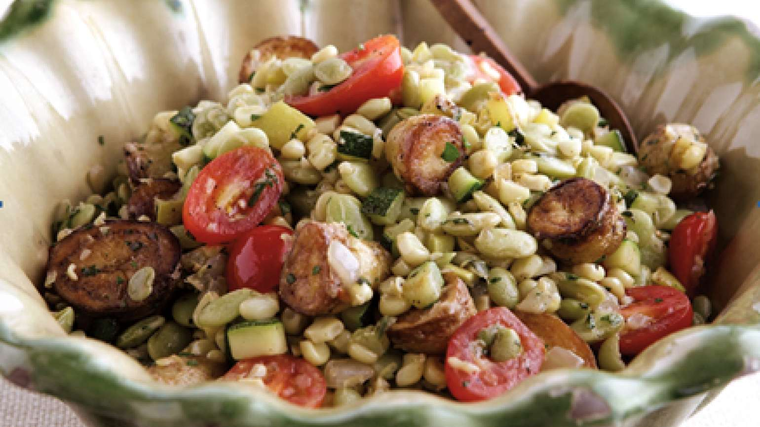 Fresh Summer Vegetable Succotash with Basil
