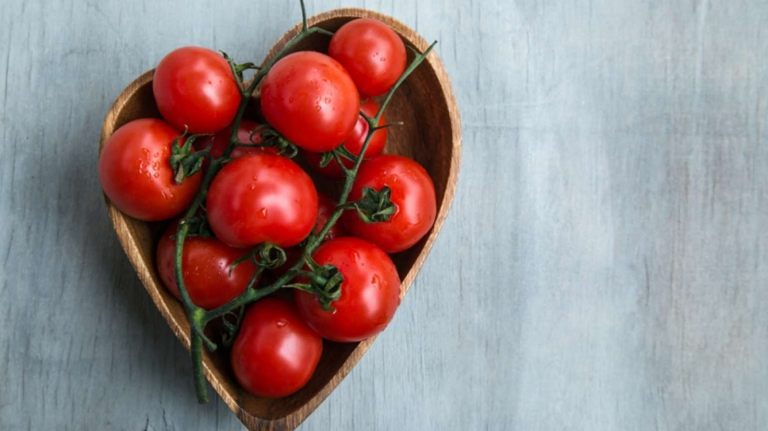tomatoes in a heart-shaped bowl