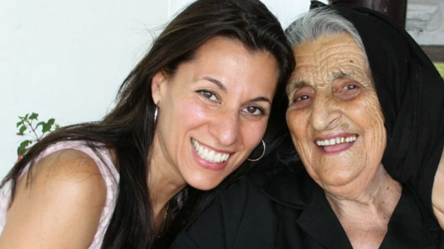Yvette Manessis Corporon with her grandmother