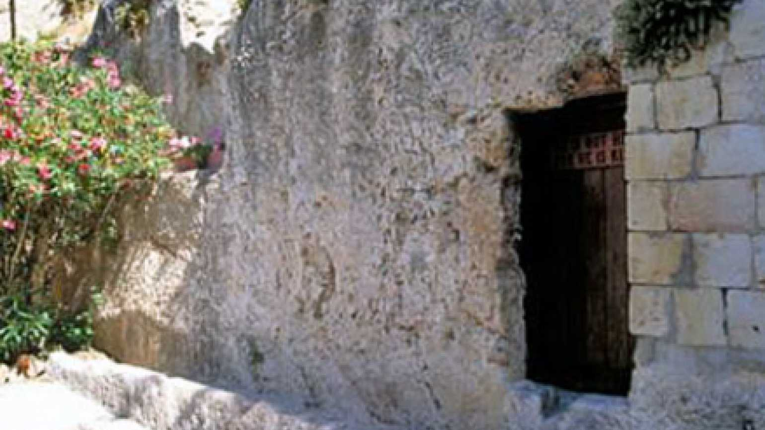 The Garden Tomb in Jerusalem where some say Jesus was laid after his death