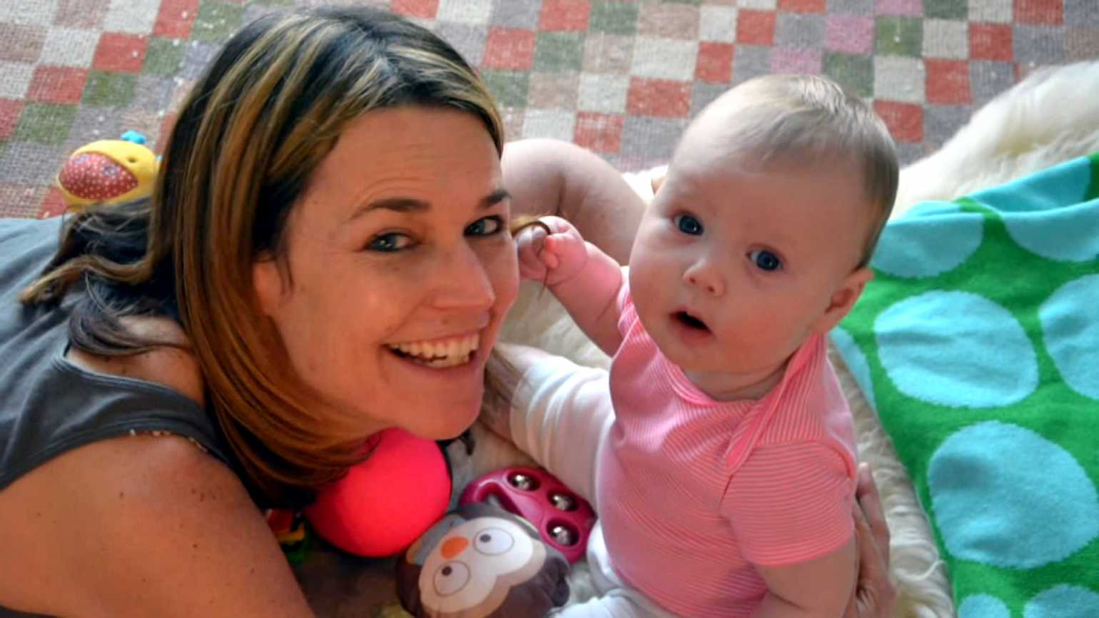 Today Show host Savannah Guthrie with her daughter, Vale