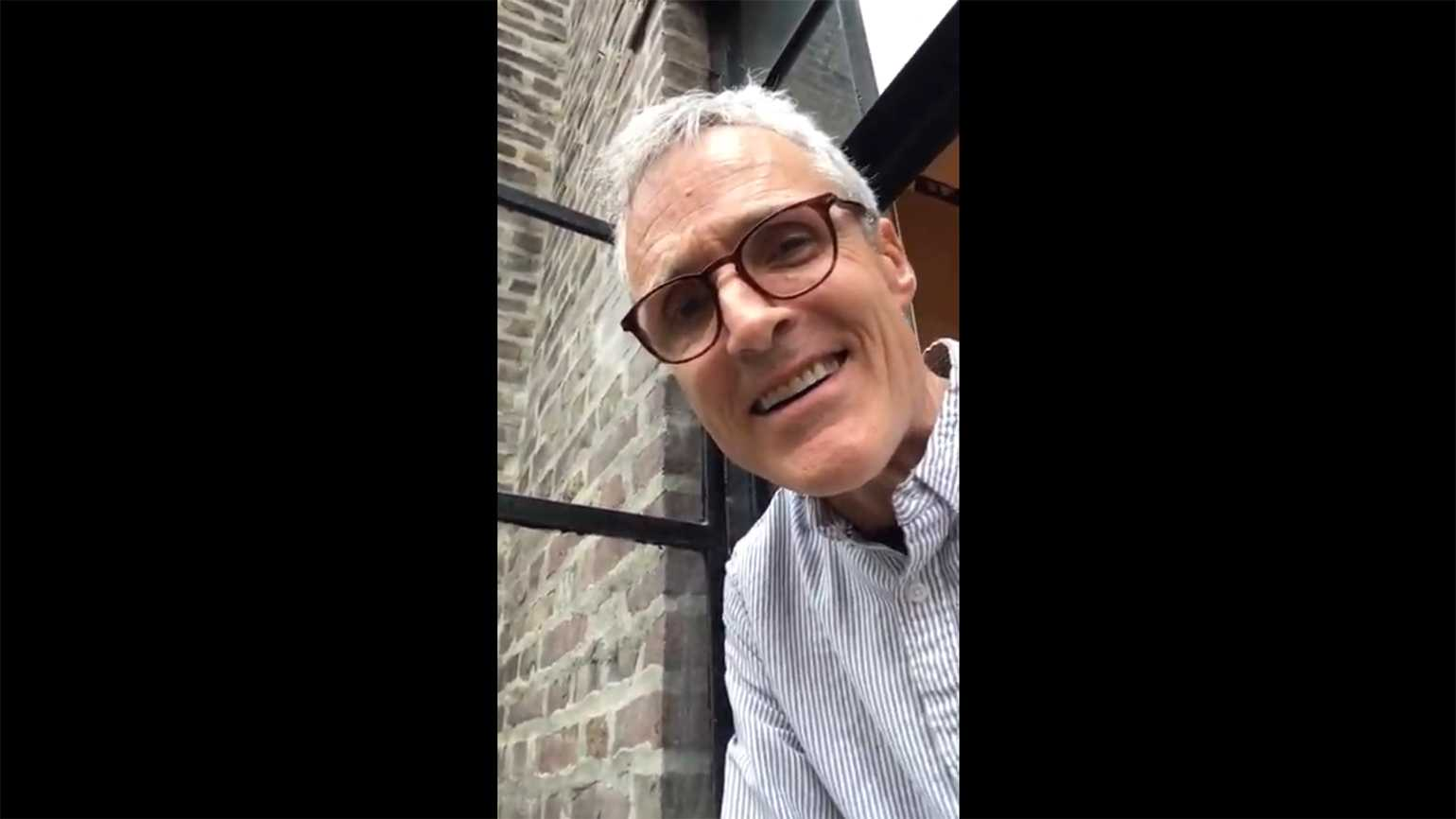 Rick Hamlin, from the window of his NYC apartmejnt