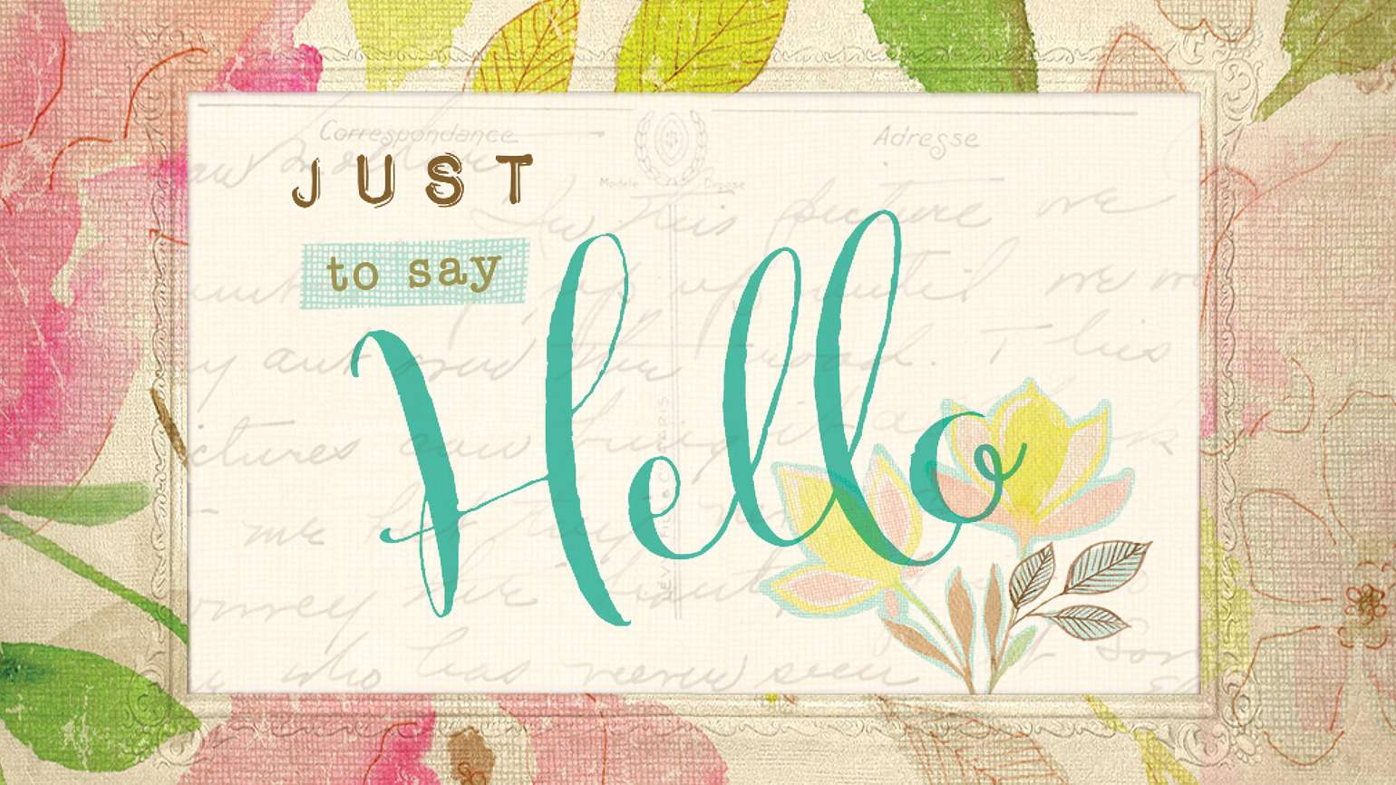"""""""Just to Say Hello"""" August cover"""
