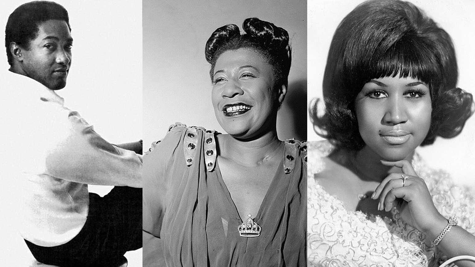 Sam Cooke, Ella Fitzgerald and Aretha Franklin