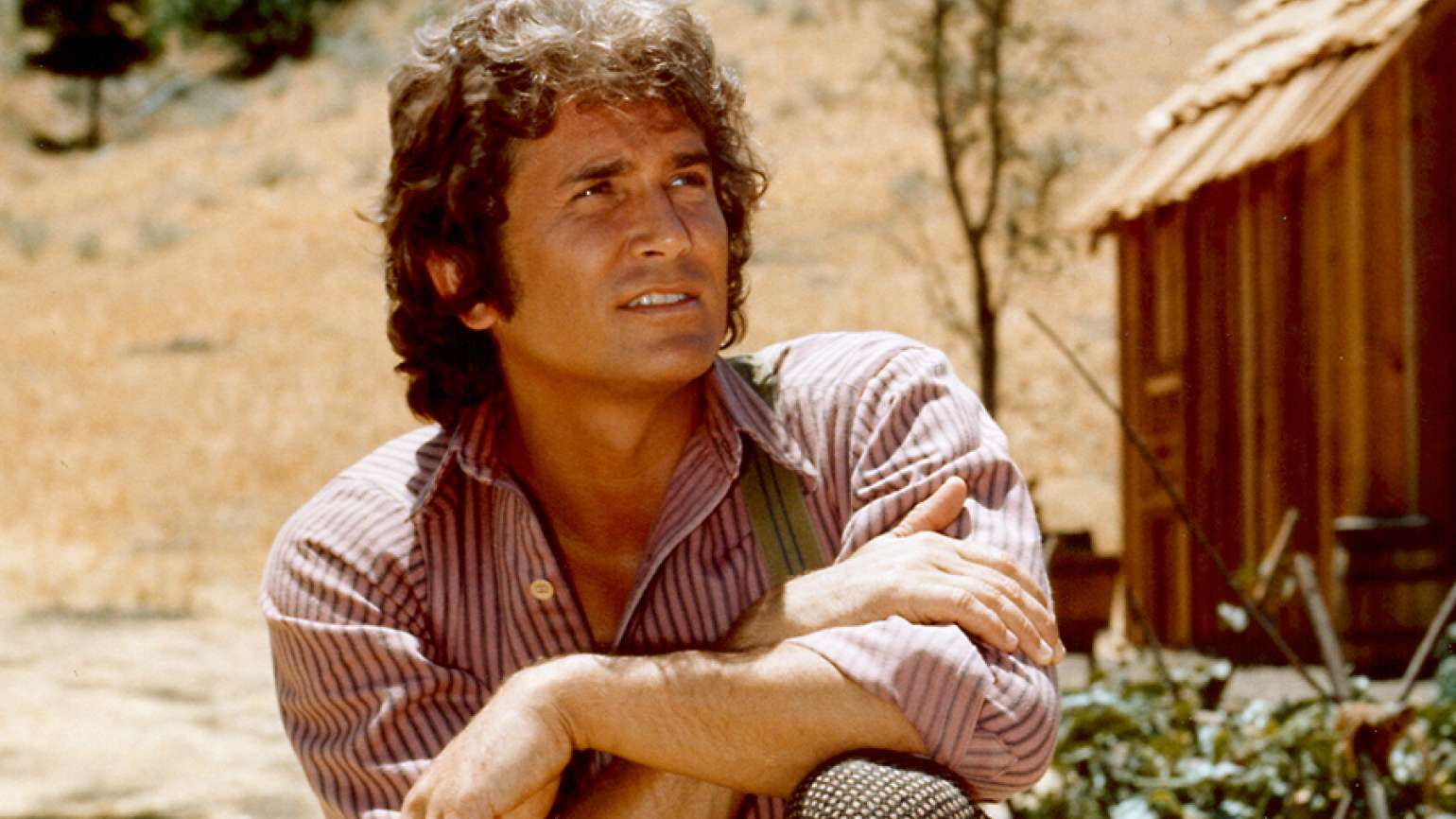 Michael Landon as Charles Ingalls on Little House on the Prairie