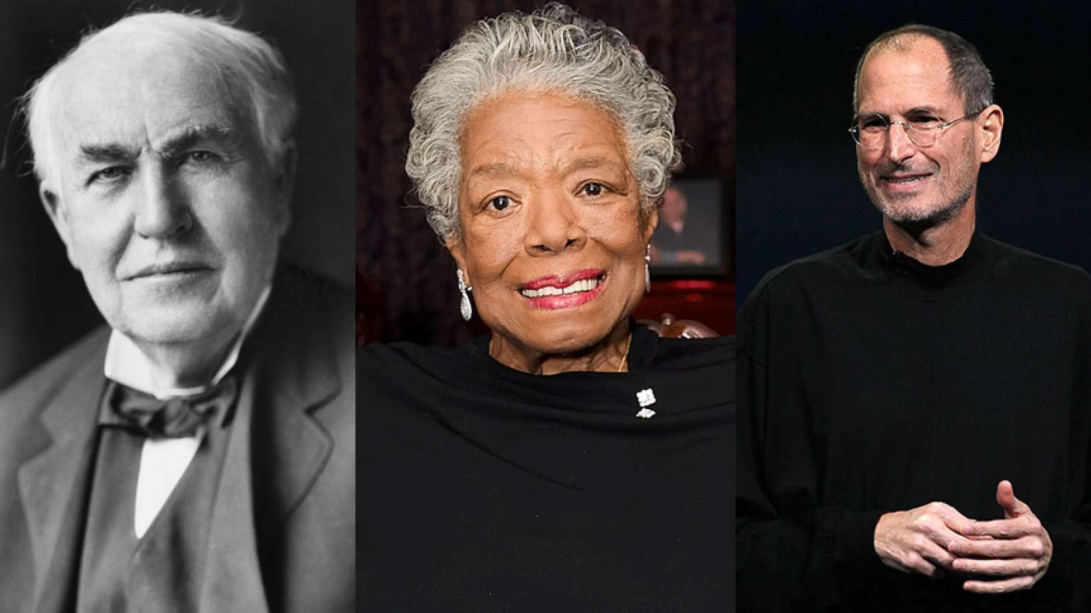 Guideposts: Thomas Alva Edison, Maya Angelou and Steve Jobs