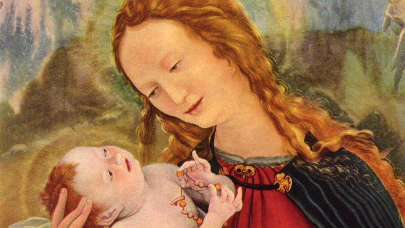 Guideposts: An artist's rendering of the Virgin Mary hold the Baby Jesus in her arms lovingly