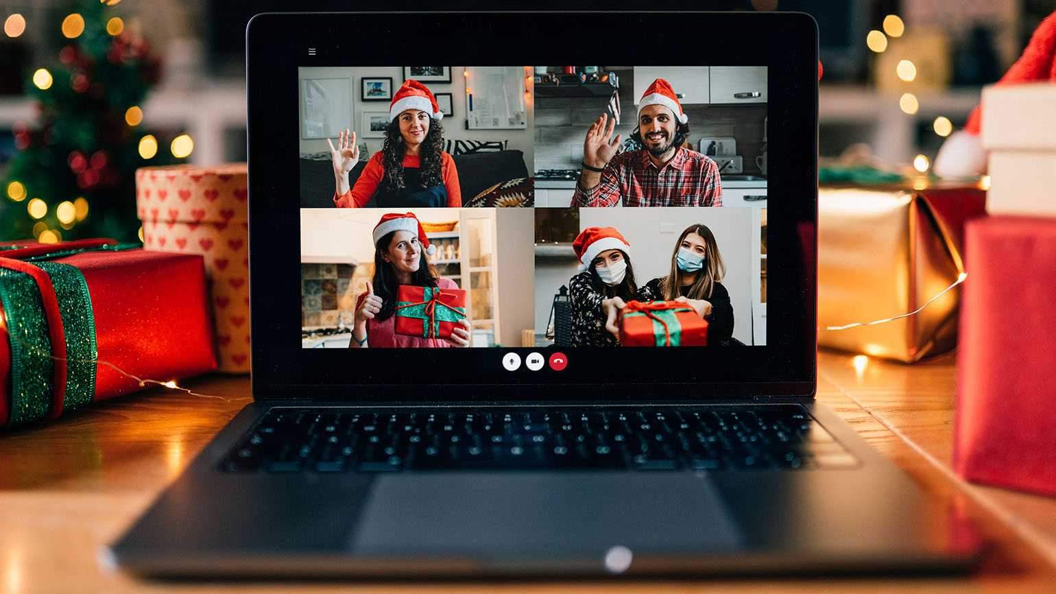 Virtual holiday gathering