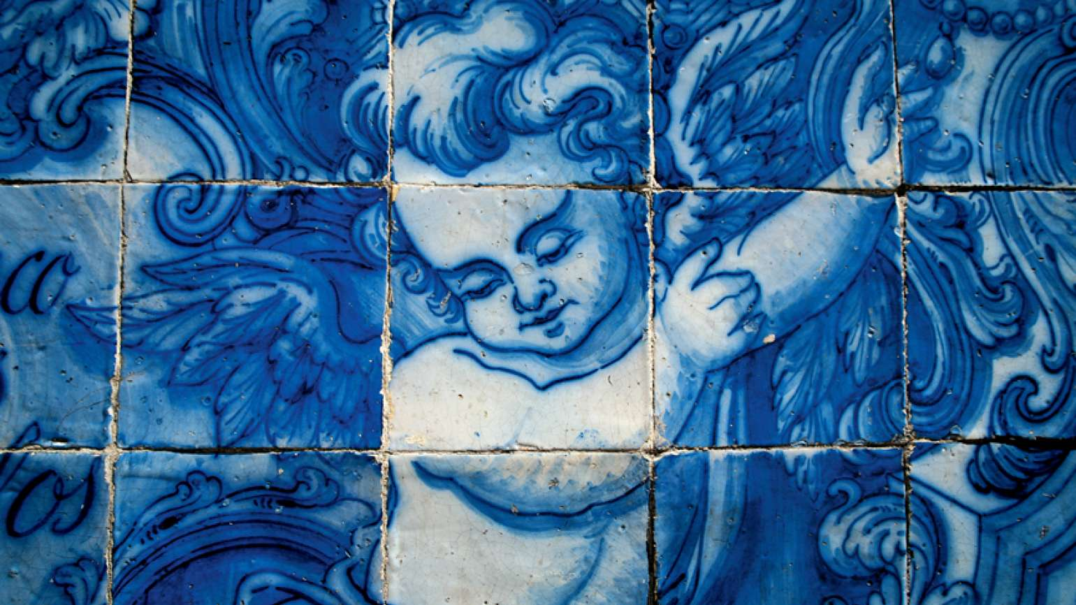 Angels around the world. An angel in Portuguese tile.