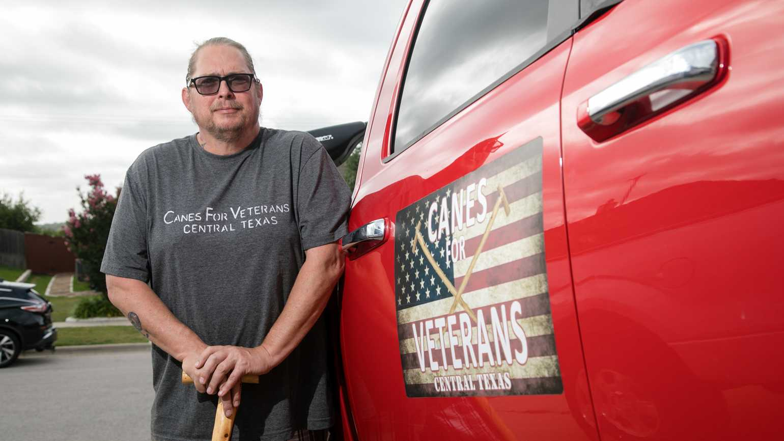 Jamie Willis runs Canes for Veterans Central Texas. Photo credit: Eric Guel