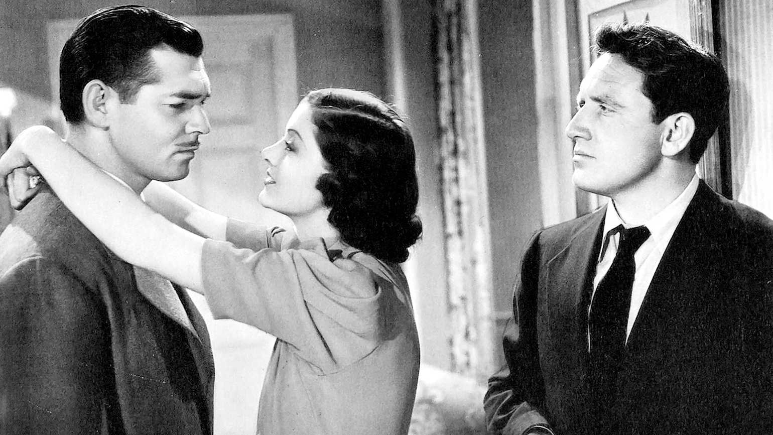 Clark Gable, Myrna Loy and Spencer Tracy in 'Test Pilot'