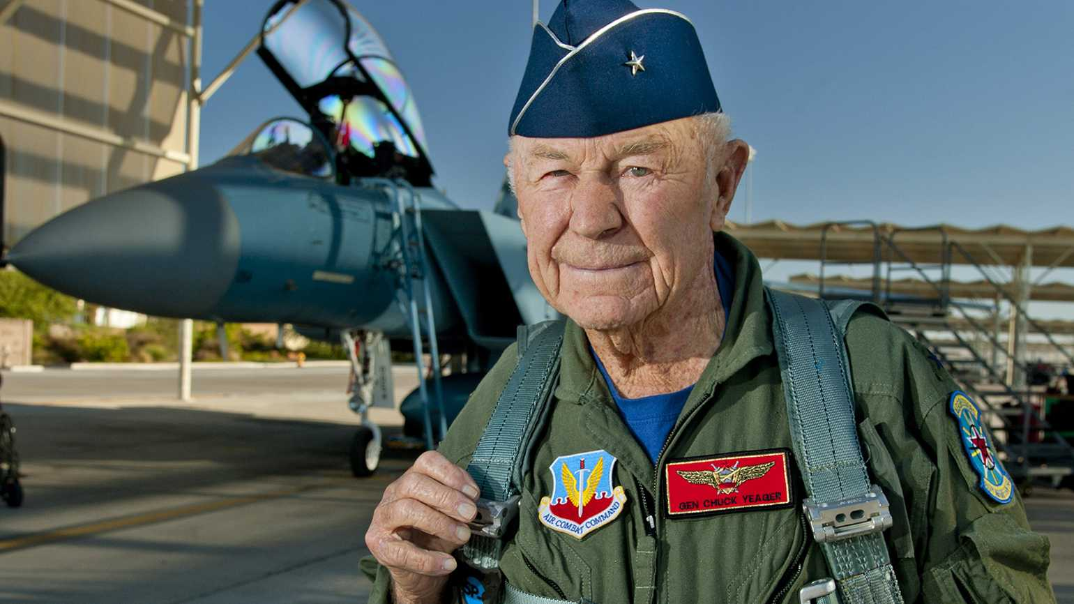 Chuck Yeager by Master Sgt. Jason Edwards; ttps://www.dvidshub.net/image/722033, Public Domain