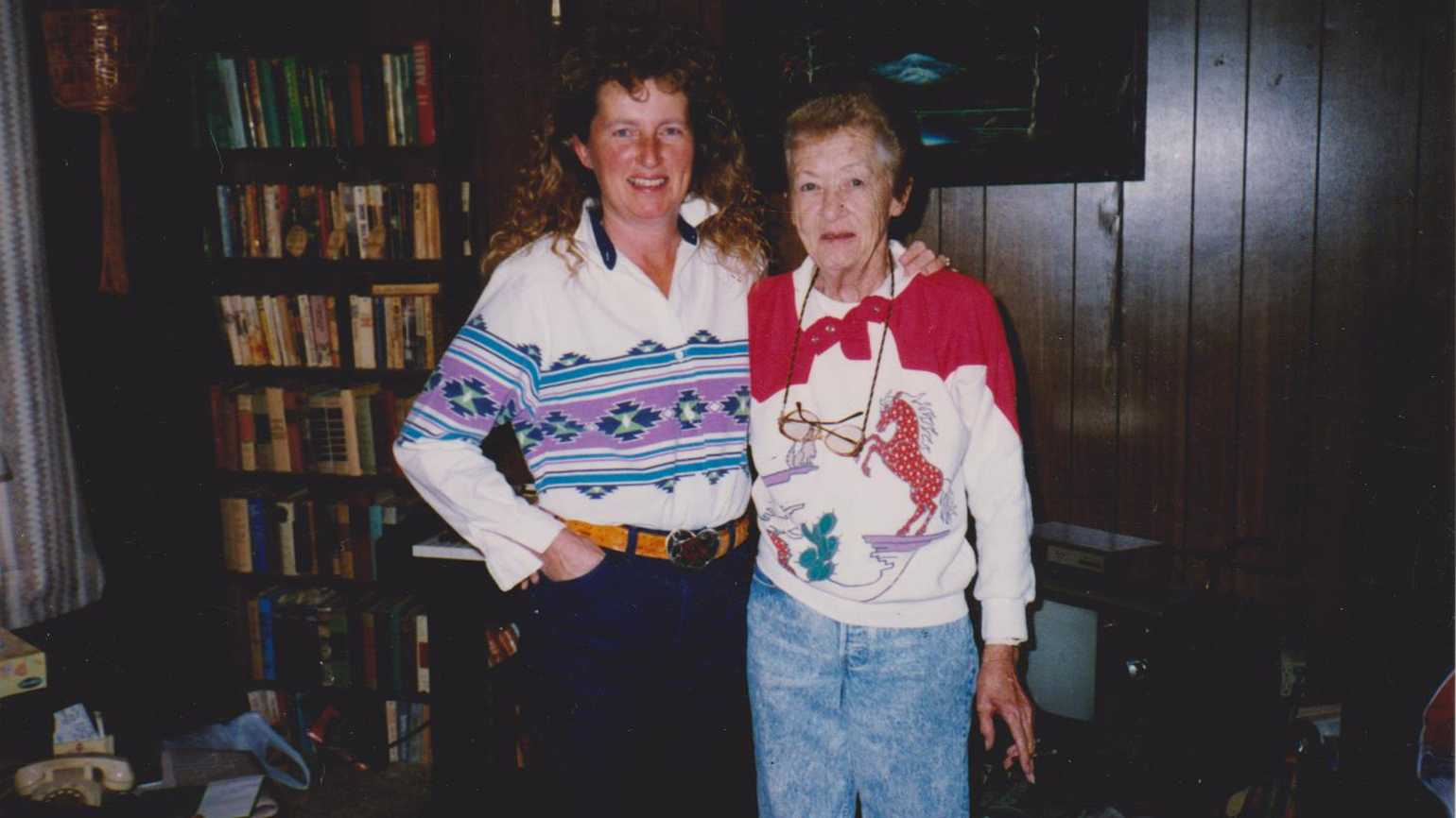 Lou Dean and her mother.