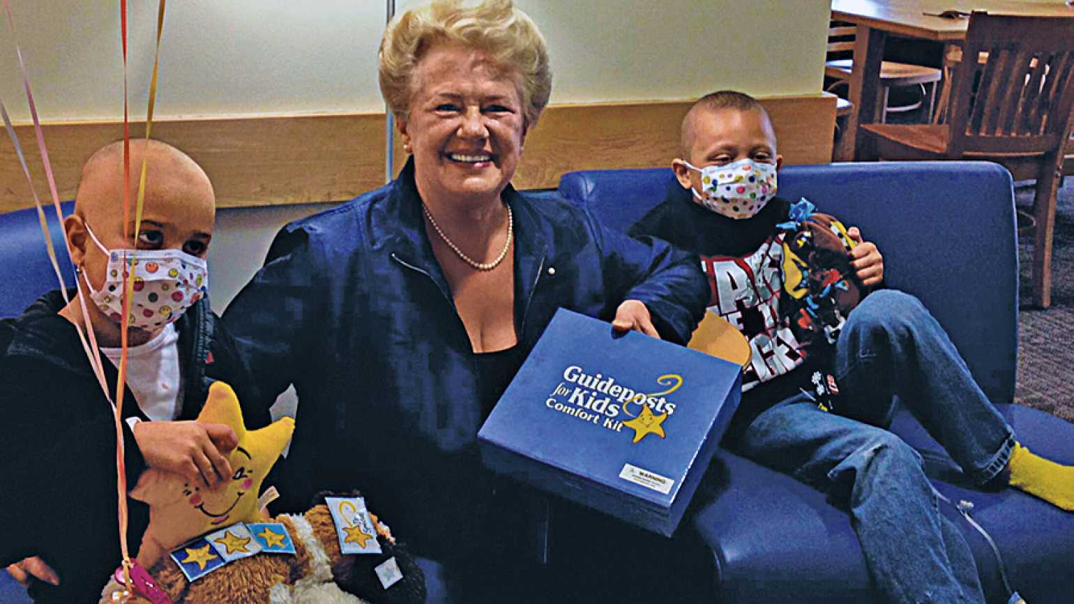 Chaplain Gentile distributes Guideposts Comfort Kits to sick children
