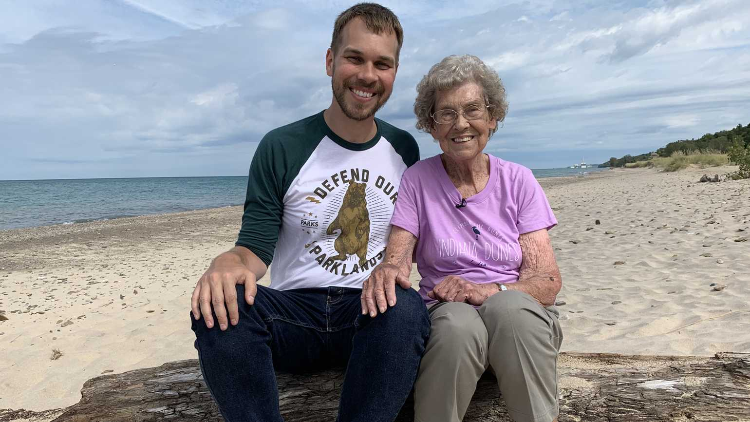 Brad Ryan and his grandmother, Joy Ryan