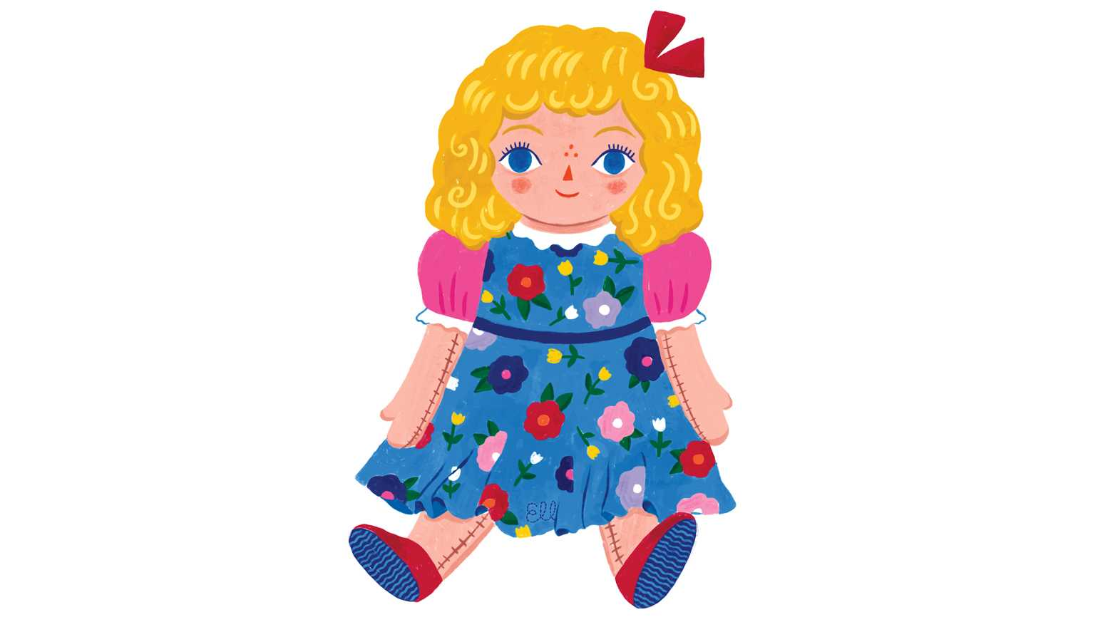 An illustration of a doll; Illustration by Sarah Walsh