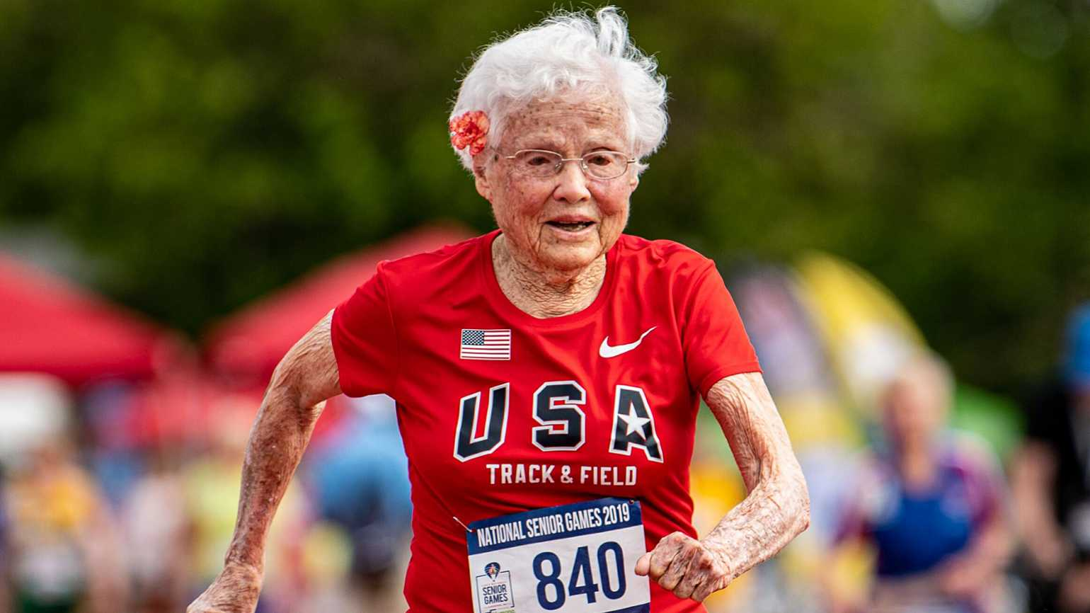 Julia Hawkins at the 2019 National Senior Games