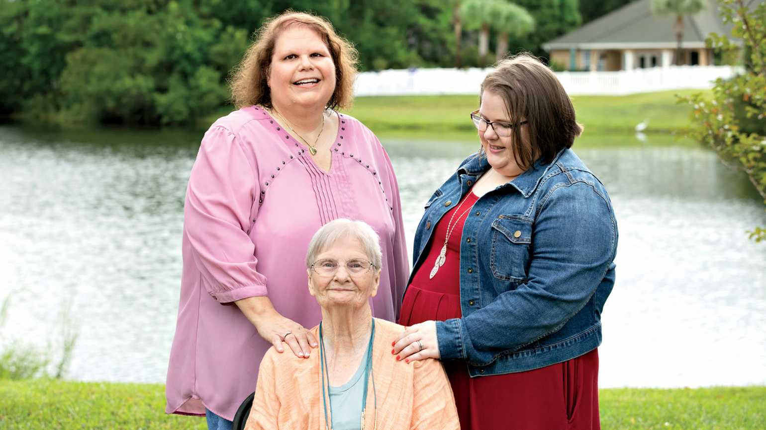 Lori Durham (left) with Allison and Betty; photo by Charlotte Kesl