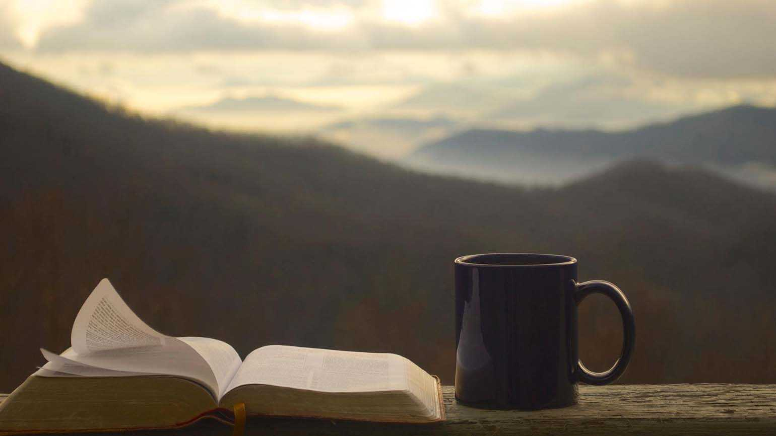 The Bible and a mug; Getty Images